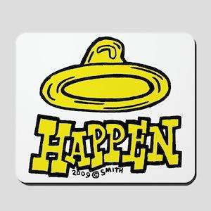 condom_happen_right_yellow Mousepad