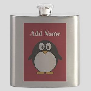 Modern Penguin Red Flask
