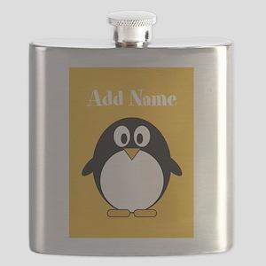 Modern Penguin Yellow Flask