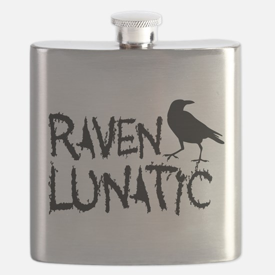 Raven Lunatic - Halloween Flask