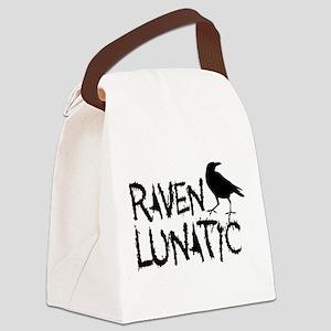 Raven Lunatic - Halloween Canvas Lunch Bag