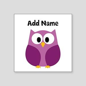 Modern Owl Purple Sticker
