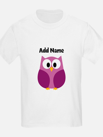 Modern Owl Purple T-Shirt