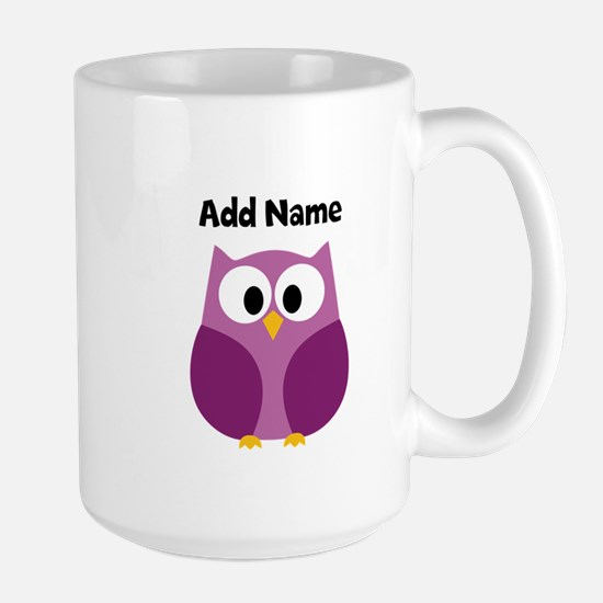 Modern Owl Purple Mugs