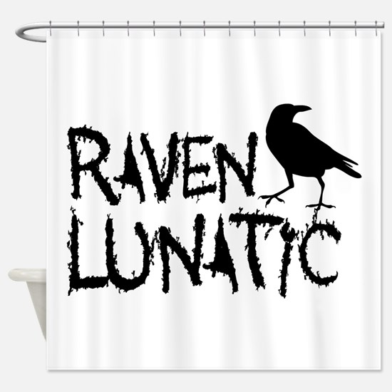 Raven Lunatic - Halloween Shower Curtain
