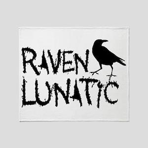 Raven Lunatic - Halloween Throw Blanket