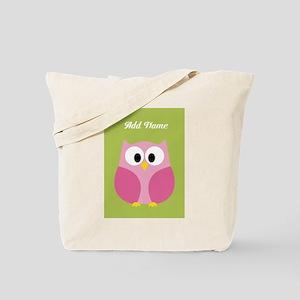 Green Pink Owl Tote Bag