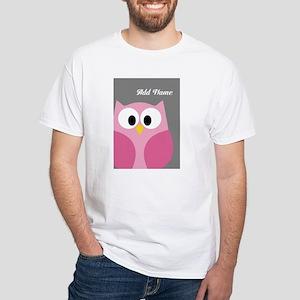 Gray Pink Owl T-Shirt