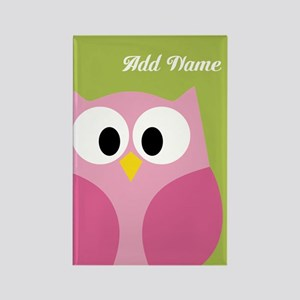 Green Pink Owl Magnets