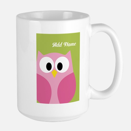 Green Pink Owl Mugs
