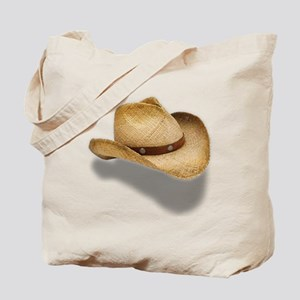 Straw Cowboy Hat Tote Bag
