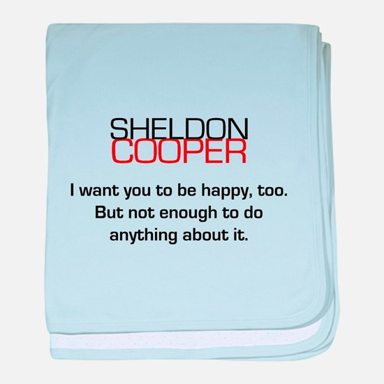 Sheldon Cooper's Happiness Quote baby blanket