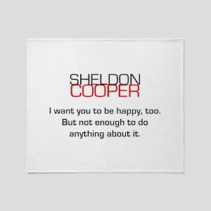 Sheldon Cooper's Happiness Quote Throw Blanket