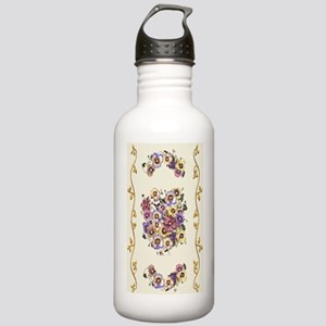 MIXED PANSIES Stainless Water Bottle 1.0L