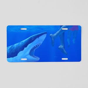Shark attack Aluminum License Plate