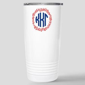 Kappa Kappa Gamma Wreat Stainless Steel Travel Mug
