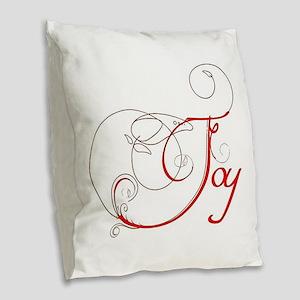 Joy! Burlap Throw Pillow