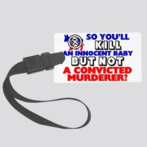 CONVICTEDBIG Large Luggage Tag