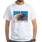 All Around The World White T-Shirt