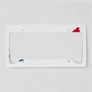 AcadiaFlag shadow trans License Plate Holder
