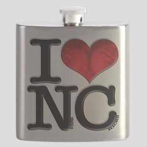 I Love Naked-Chicks Flask