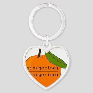 Tangerine Heart Keychain