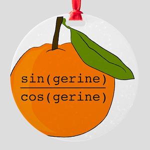 Tangerine Round Ornament