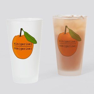 Tangerine Drinking Glass