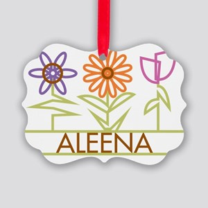ALEENA-cute-flowers Picture Ornament