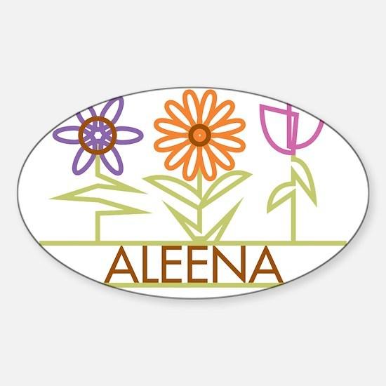 ALEENA-cute-flowers Sticker (Oval)