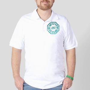 GrungeLostBlue Btn Golf Shirt