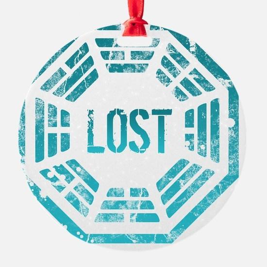 GrungeLostBlue Btn Ornament