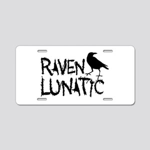 Raven Lunatic - Halloween Aluminum License Plate