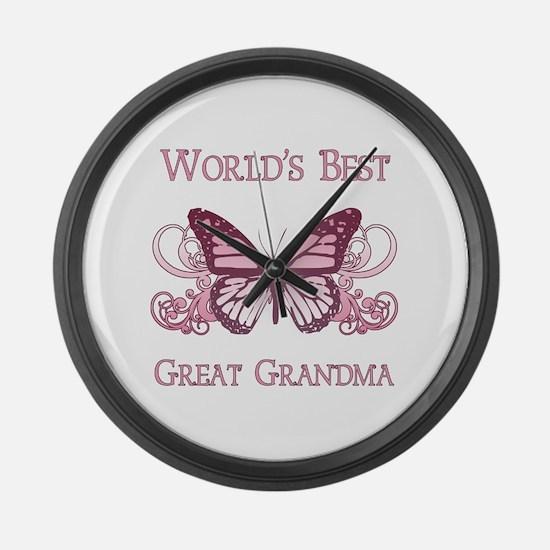 World's Best Great Grandma (Butterfly) Large Wall