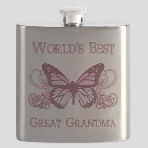 World's Best Great Grandma (Butterfly) Flask