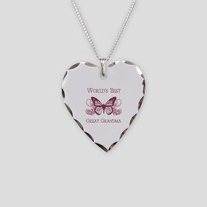 World's Best Great Grandma (Butterfly) Necklace He