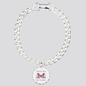 World's Best Great Grandma (Butterfly) Charm Brace
