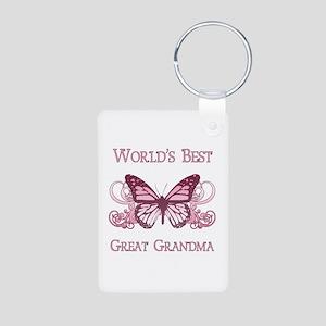 World's Best Great Grandma (Butterfly) Aluminum Ph