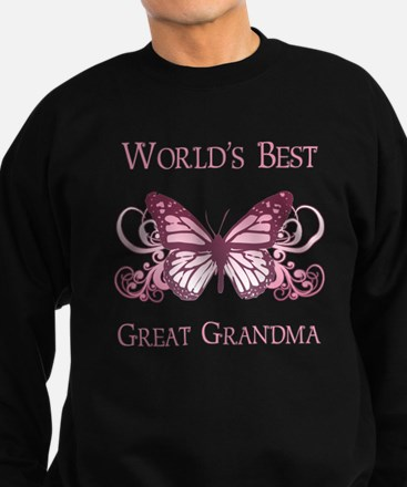 World's Best Great Grandma (Butterfly) Sweatshirt