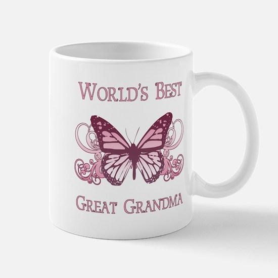 World's Best Great Grandma (Butterfly) Mug