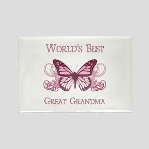 World's Best Great Grandma (Butterfly) Rectangle M