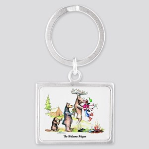 The Welcome Wagon Landscape Keychain