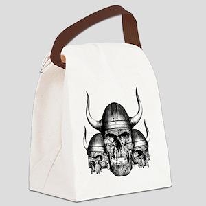 vikingskulls Canvas Lunch Bag