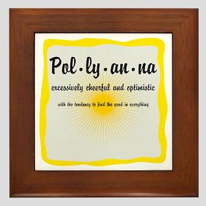 Pollyanna Definition Framed Tile