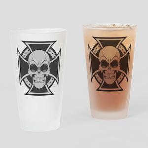 Biker Cross Drinking Glass