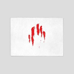 Bloody Hand Print 5'x7'Area Rug