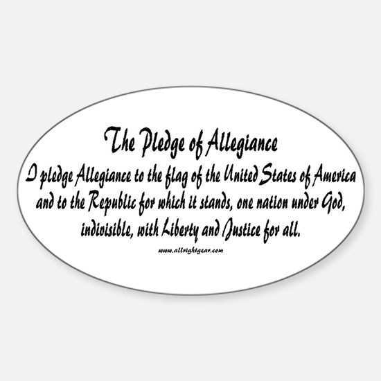 The Pledge of Allegiance Oval Decal