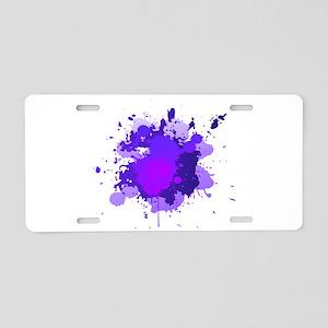 Paint Splatter Aluminum License Plate