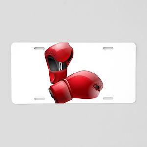 Boxing Gloves Aluminum License Plate