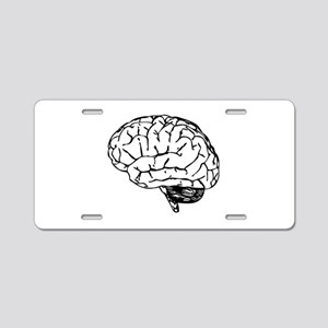 Brain Aluminum License Plate
